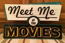 Home Theater Movies Lobby Drive In Cinema Popcorn Stand Poster Movie Open Late