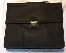 Visconti Apollo Oil Tanned Leather Briefcase Strap & Lock, Broken shoulder strap