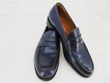 FERRAGAMO RINALDO Blue Leather Penny Loafer Dress Shoe Men's Size 7.5 E