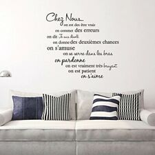 New ListingWall Sticker French Motto Phrases Self-Adhesive Wall Decal Living Room Décor