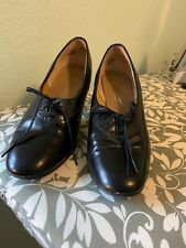1950s Shoes Ci Ranno Designer Editions Black Lace-up Vintage heels
