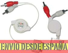 Cable Conexion Stereo para Ipod, Iphone, Ipad , Itouch Retractil