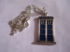 Police Box, Tardis, Dr Who pendant necklace