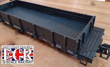 G SCALE 45mm GAUGE FLAT BED TRUCK BLACK FREIGHT GARDEN ROLLING STOCK COACH TRAIN