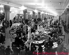 Macy's at Christmas Time, New York City - 1948 - Vintage Photo Print