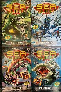 Pack of 4 Sea Quest Books - Tetrax, Nephro, Finaria, Chakrol by Adam Blade