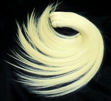 Hair extension REAL BRAID smooth human tresses 50cm long extra light blond