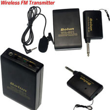 Wireless FM Transmitter Receiver Lavalier Lapel Clip-on Microphone Mic System