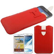 Etui mit Ausziehhilfe für Samsung Galaxy Note / Note 2 rot Hülle Case Cover