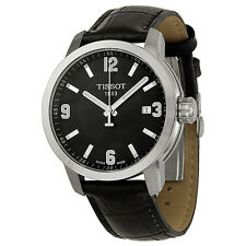 Tissot PRC 200 Black Leather Mens Watch T0554101605700-AU