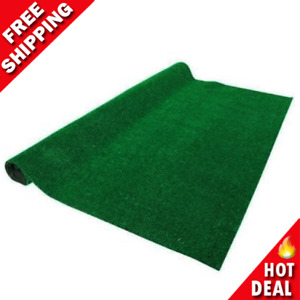 Green Artificial Grass Rug 6 ft. x 8 ft. Patio Deck Indoor Outdoor Landscape NEW