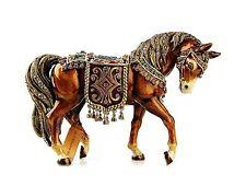 "JAY STRONGWATER JEWEL HOLIDAY LARGE 8"" TAPESTRY HORSE FIGURINE SWAROVSKI NEW BOX"