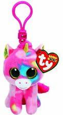TY Beanie Boos 36619 ***Fantasia the Pink Multicoloured Unicorn ***