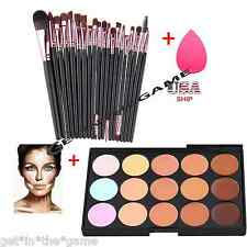 Concealer Palette 15 Colors Makeup Contour Face Cream Professional + 20 BRUSH SP