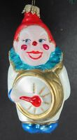 "Glass 554 Ornament Clown Drummer 4"" Musician Lauscha Glas Germany Hand Painted"