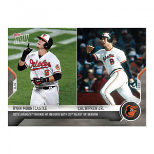 2021 Topps Now #816 Ryan Mountcastle Cal Ripken Jr. Baltimore Orioles PRESALE