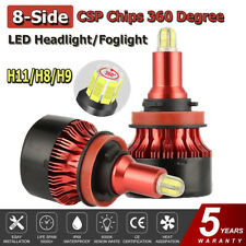 H11 LED Headlight Bulbs 8 Sides CSP Chip 360 Degree Conversion Kit 18000LM 6000K