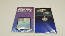 Classic Star Trek Tv Series Spock on Bridge Hologram Pin Badge 1992 New Unused