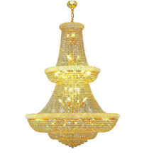 Large Foyer Entryway Crystal Chandelier French Empire Gold Crystal Chandeliers