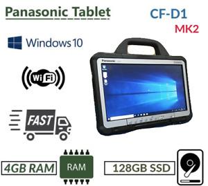 "FASTER MK2 PANASONIC TOUGHBOOK CF-D1 13.3"" TABLET 4GB 128GB WIN 10 BLUETOOTH"