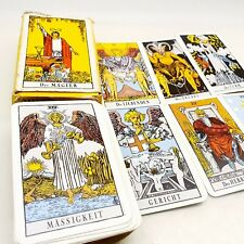 Vintage tarot card deck telling fortune cards complete