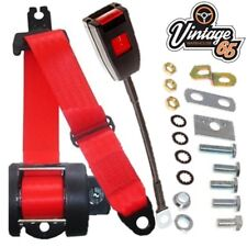 Mazda Mx5 Mk1 Eunos Miata Front Automatic Inertia 3 Point Seat Belt Kit Red