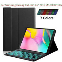 For Samsung Galaxy Tab S6 10.5 SM-T860 Keyboard Case Slim Stand Cover Backlight