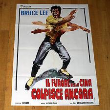 IL FURORE DELLA CINA COLPISCE ANCORA manifesto poster Bruce Lee Arti Marziali