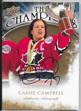 09/10 Upper Deck The Champions Auto Cassie Campbell CH-CC