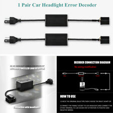 2xCar H4 HID LED Headlight Error Decoder System Anti Flicker Resistor Canceller