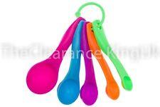 5 Pcs Colorful Plastic Measuring Spoons Set Kitchen Utensil Cooking Baking Tool