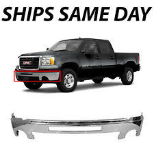 Chrome Front Bumper Center Face Bar W/ Hole for 2007-2013 GMC Sierra 1500 Pickup