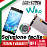 DISPLAY LCD+TOUCH SCREEN WIKO GETAWAY SCHERMO VETRO NERO ORIGINALE ASSEMBLATI!!!