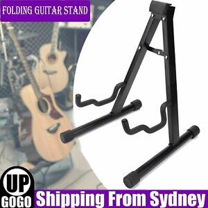 Folding Guitar Stand Electric Acoustic Bass Floor Rack Holder Frame Rack Holder