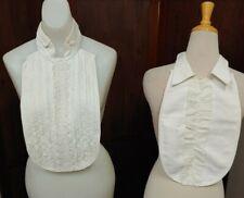 Lot Of 2 Authentic Antique Vintage Mens Shirt-fronts
