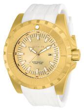 Invicta Men's Watch Pro Diver Ocean Master Gold Tone Dial White Strap 23740