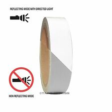 "1 Roll Silver White 1"" x 30 feet Reflective Engineering Grade Tape Pinstripe"