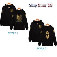 Attack on Titan Recon Corps Logo Sport Hoodie Sweatshirt Pullover Sweater Jacket