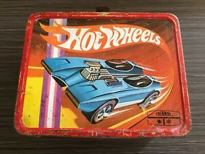 Hot Wheels Vintage THERMOS Brand Old Lunch Box w/Redline HW Graphics for Display