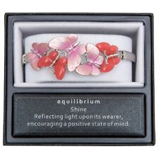 Pink Butterfly Expandable Bracelet By Equilibrium, Multi Tone Pink Comes Boxed