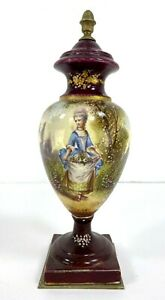 "Antique French Sevres Style Porcelain Urn, 10"" H."