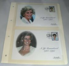 More details for 2 x diana a life remembered 1961-1997 luxury first day covers on album sheet
