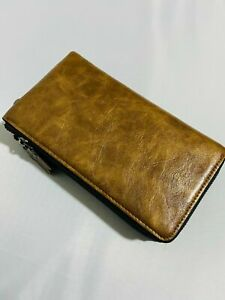Travel Wallet Large Trifold Passport Holder Business Wallet Faux Leather
