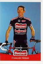 CYCLISME carte cycliste FRANCOIS SIMON équipe BONJOUR .fr 2001