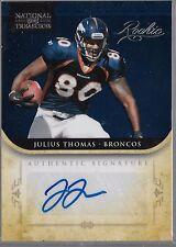 2012 Panini National Treasures Julius Thomas Auto Rc  # /99 Broncos Picture