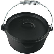 ROVIN Cast Iron Camp Oven - 3.8 Litre