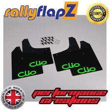 Rallyflapz Renault Clio Mk3 (05-12) Barro Solapas mudflaps Negro con logotipo en verde, 3 Mm De Pvc
