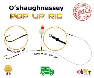 Single Hook Pop Up Rig Wire Trace -- Pike Sea Fishing -- O'Shaughnessey Hook