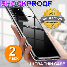 Samsung Galaxy S20 Ultra S8 S9 S10 Plus Thin Clear Slim Soft Case Cover + 2 Pack