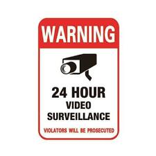 Surveillance Security Camera Video Sticker Warning Sign Stickers Best Decal H1Q0